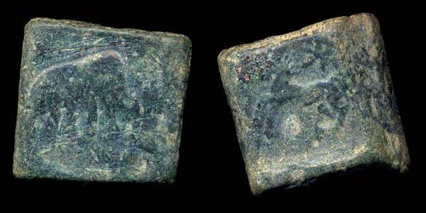 PUSHKALAVATI, c 185-160 BC, 1 1/2 karshapana
