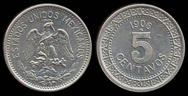 MEXICO, 5 centavos, 1906
