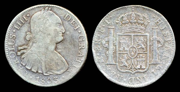 MEXICO, 8 reales, 1803 FT