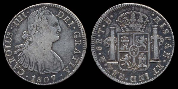 MEXICO, 8 reales, 1807 TH