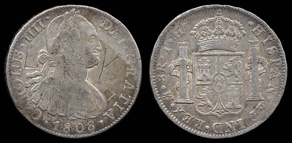 MEXICO, 8 reales, 1808 TH