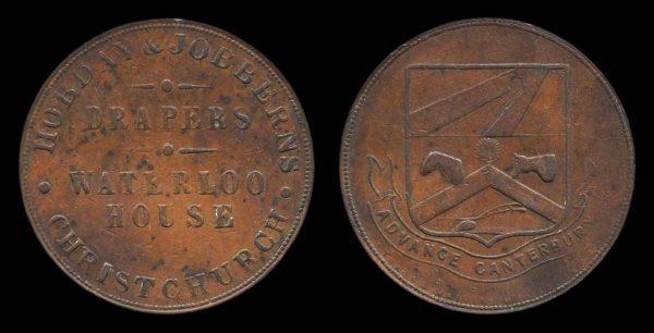NEW ZEALAND, token, 1874-75