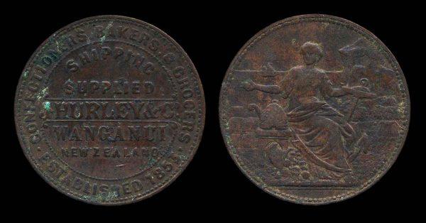 NEW ZEALAND, token, 1857