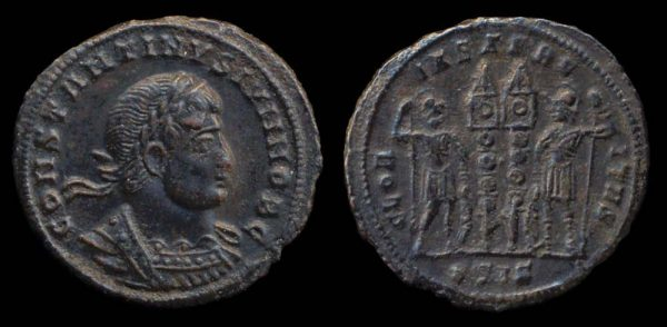 ROMAN EMPIRE, Constantine II, Caesar, 317-337 AD, reduced centenionalis