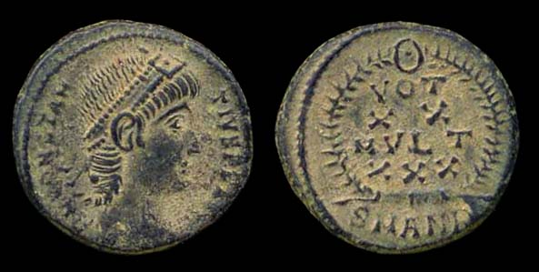 ROMAN EMPIRE, Constantius II, 337-361 AD, 1/2 centenionalis