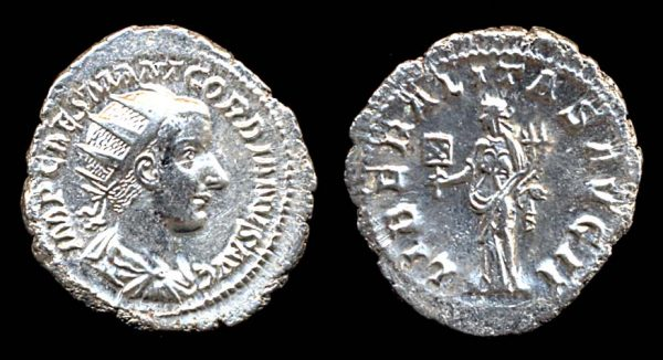 ROMAN EMPIRE, Gordian III, 238-244 AD, silver, antoninianius