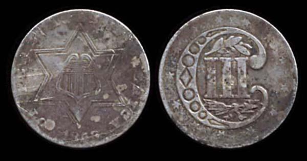 USA, 3 cents, 1858