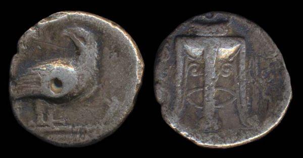 BRUTTIUM, KROTON, 425-350 BC, silver stater