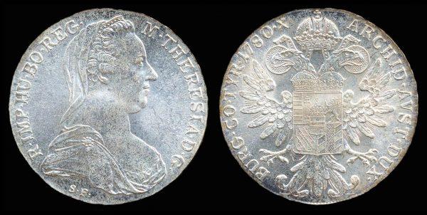 AUSTRIA, Maria Theresia thaler, 1780 (1986-), Vienna mint