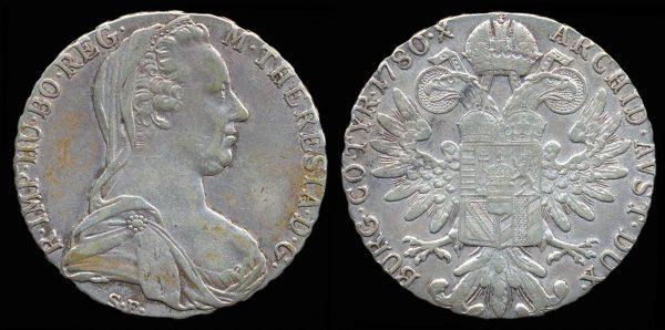 AUSTRIA, Maria Theresia thaler, 1780 (1940-41) X, Bombay mint