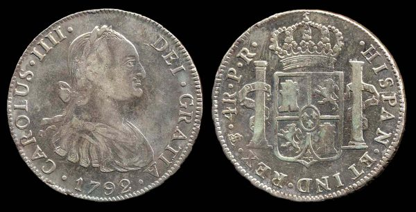 BOLIVIA, 4 reales, 1792 PR