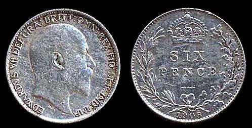 GREAT BRITAIN, 6 pence, 1903