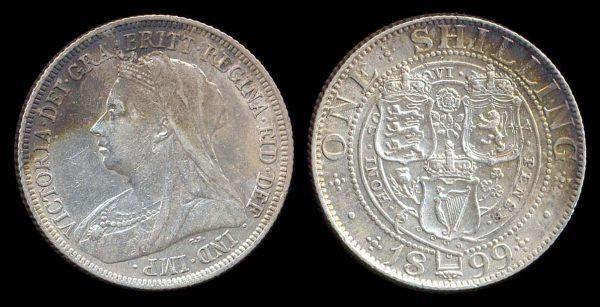 GREAT BRITAIN, 1 shilling, 1899