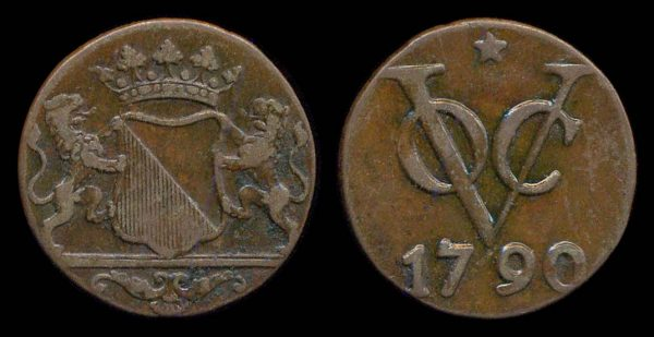 INDONESIA, VOC, 1 duit, 1790, Utrecht mint