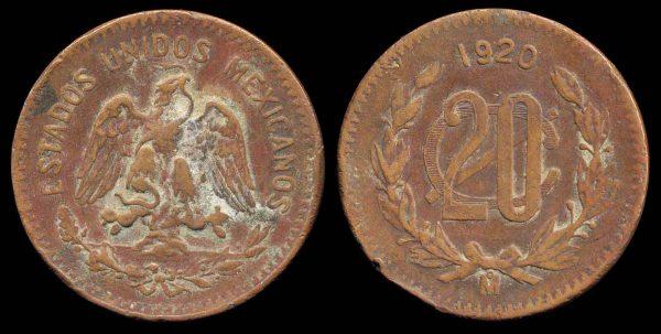 MEXICO, 20 centavos, 1920