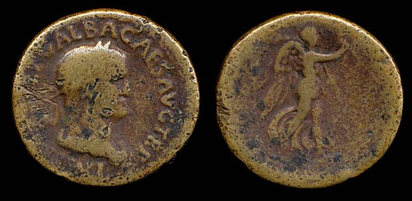 ROMAN EMPIRE, Galba, 68-69 AD, brass sestertius