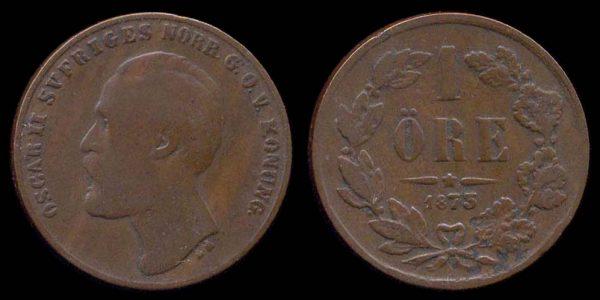 SWEDEN, 1 öre, 1873