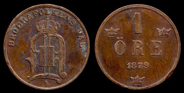 SWEDEN, 1 öre, 1879