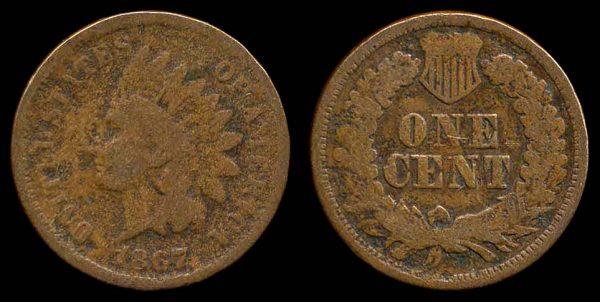 USA, 1 cent, 1867
