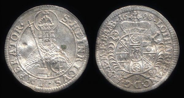 GERMANY, BAMBERG, 4 kreuzer, 1698