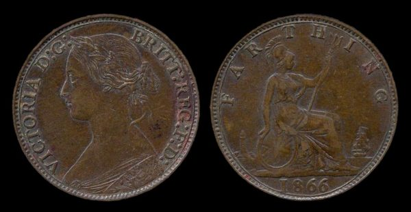 GREAT BRITAIN, farthing, 1866