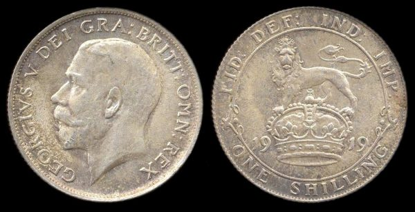 GREAT BRITAIN, 1 shilling, 1919