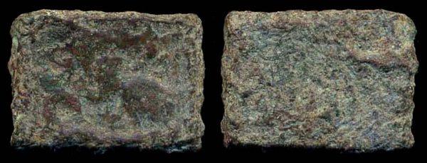 TAXILA/PUSHKALAVATI, copper 1/4 karshapana, c. 200-160 BC