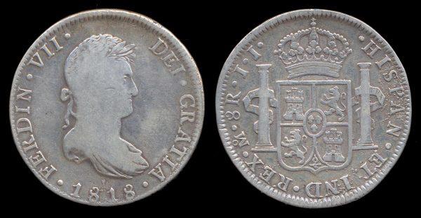 MEXICO, 8 reales, 1818 JJ