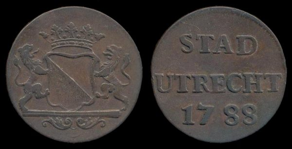NETHERLAND, duit, 1788, Utrecht mint