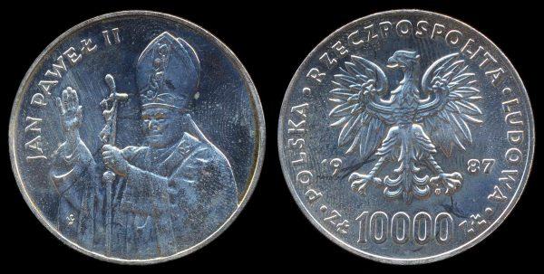 POLAND, 10,000 zlotych, 1987