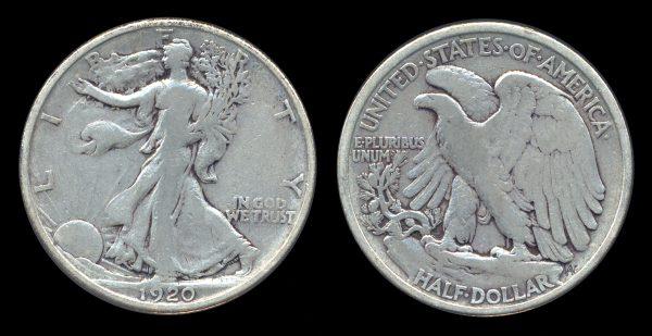 USA, 50 cents, 1920