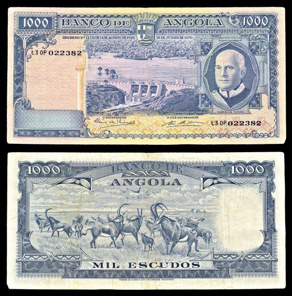 ANGOLA, 1000 escudos, 10.6.1970, P98
