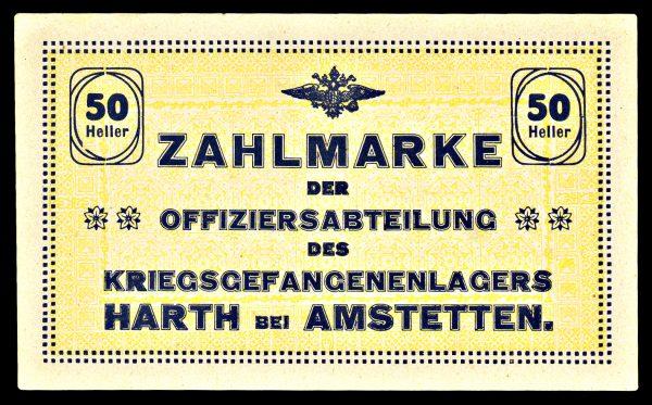 AUSTRIA, HART bei AMSTETTIN Prisoner of War Camp, 50 heller