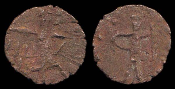 JOUAN-JOUAN, c. 195-230 AD, bronze unit,