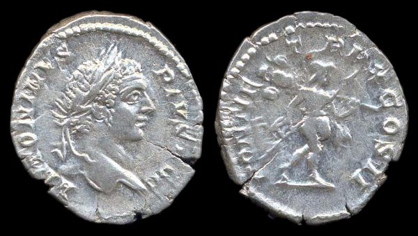 ROMAN EMPIRE, Caracalla, 198-217 AD, denarius,