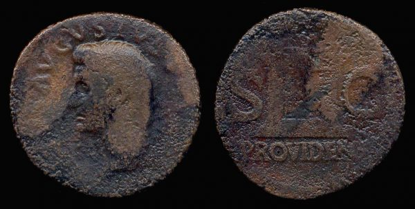 ROMAN EMPIRE, Tiberius, 14-37 AD, as,