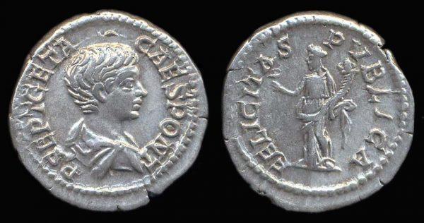 ROMAN EMPIRE, Geta, denarius,
