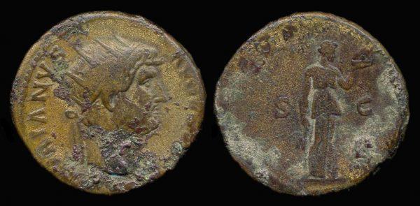 ROMAN EMPIRE, Hadrian, 117-138 AD, dupondius,