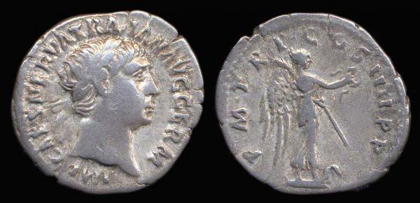 ROMAN EMPIRE, Trajan, 98-117 AD, denarius,