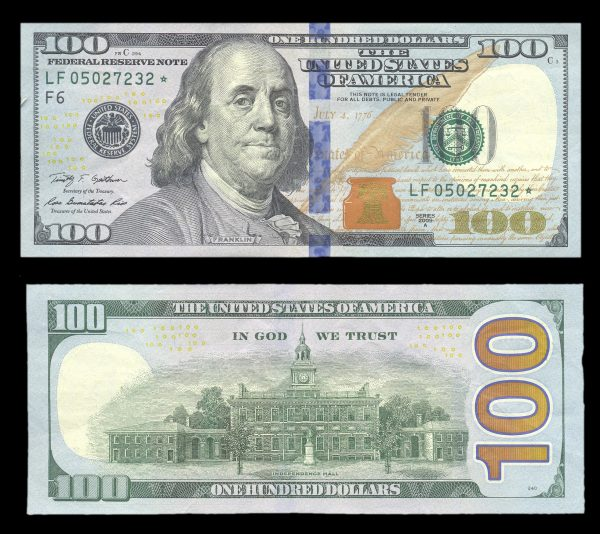 USA, 100 dollars, 2009-A, P535b, star note replacement