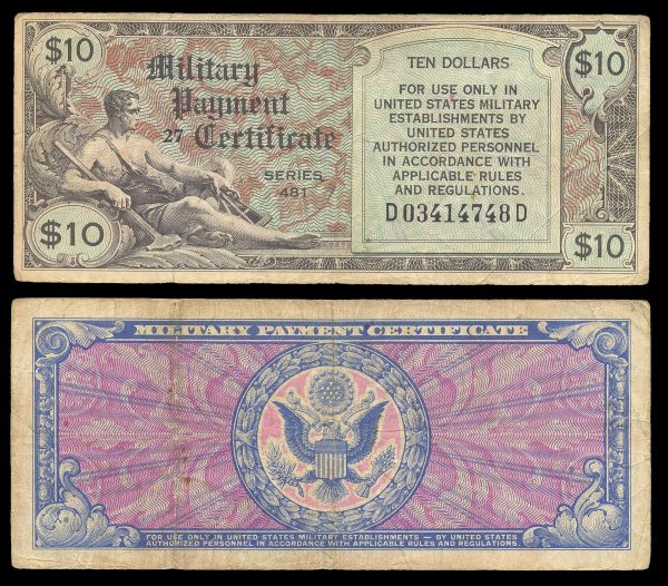 USA, Military Payment Certificate, 1 dollar, series 481