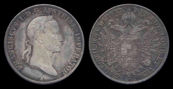 AUSTRIA, thaler, 1832 A