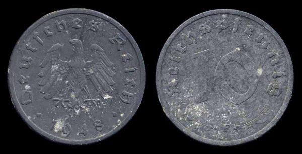 GERMANY, ALLIED OCCUPATION, 10 pfennig, 1948 F