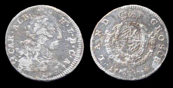 GERMANY, BAVARIA, 3 kreuzer, 1734