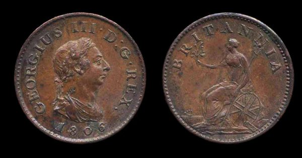 GREAT BRITAIN, farthing, 1806