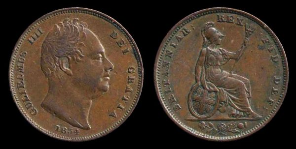 GREAT BRITAIN, farthing, 1834