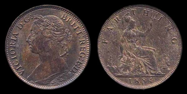 GREAT BRITAIN, farthing, 1884