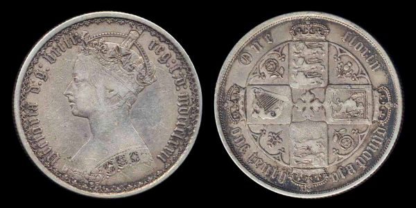 GREAT BRITAIN, 1 florin, 1872