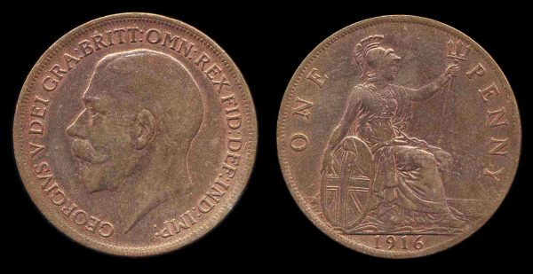 GREAT BRITAIN, 1 penny, 1916