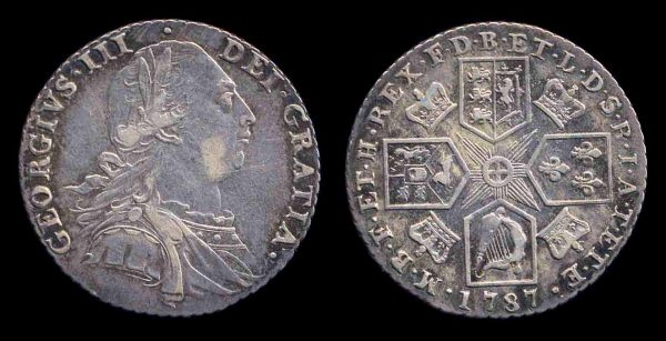 GREAT BRITAIN, 1 shilling, 1787